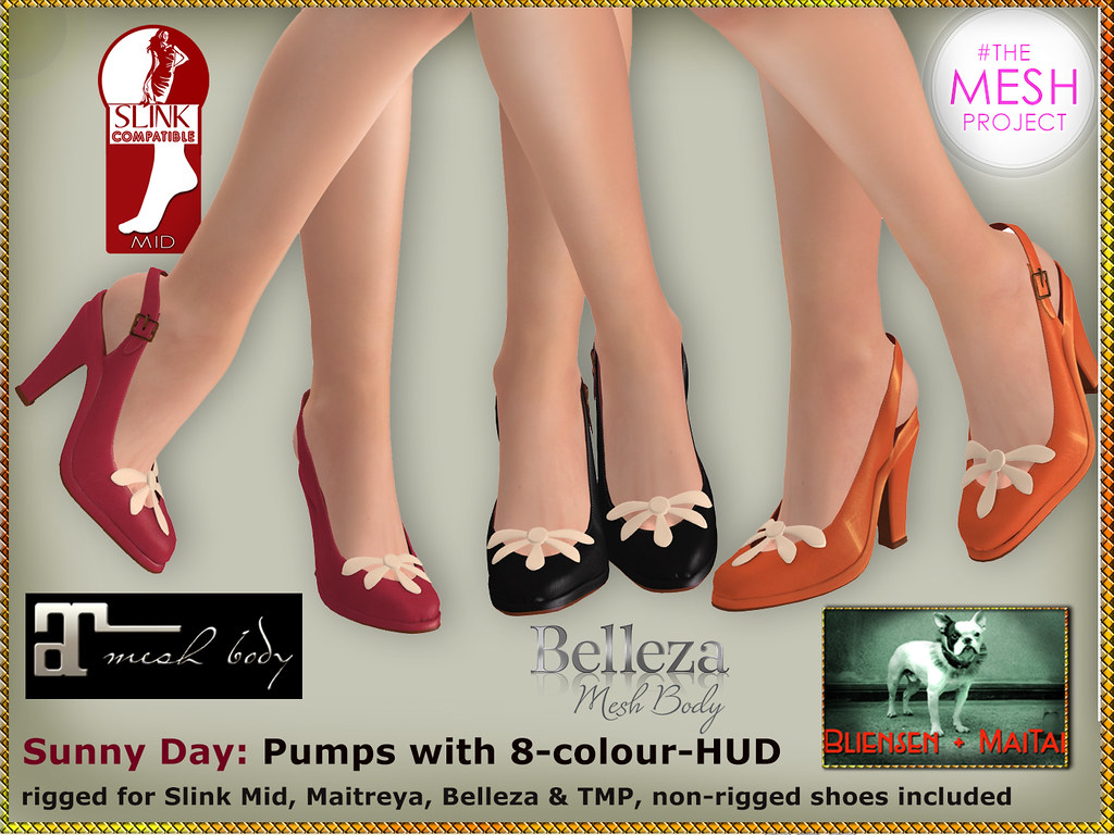 Bliensen - Sunny Day - shoes with 8-colour-HUD | new for Los