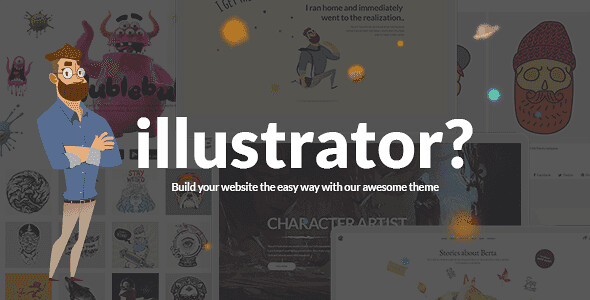Illustrator WordPress Theme free download