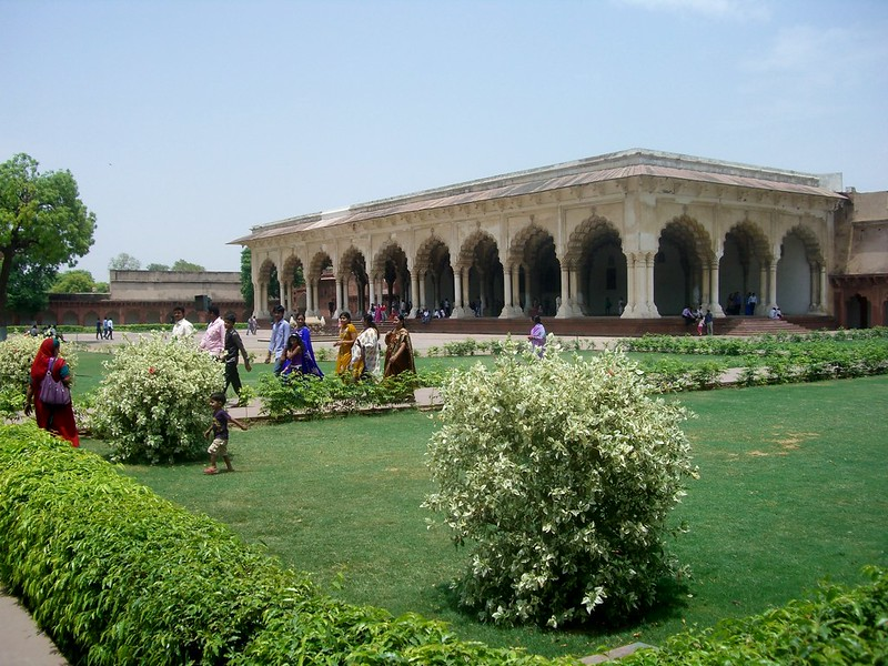 Gardens at Agra Fort
