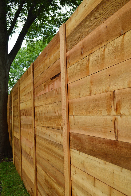 Horizontal Cedar Fence Oh How I Love Thee It S Great