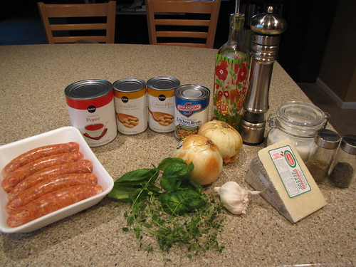 Italian Sausage with Herbed Beans Ingredients