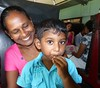 Companions on the train journey to Puttalam, Sri Lanka