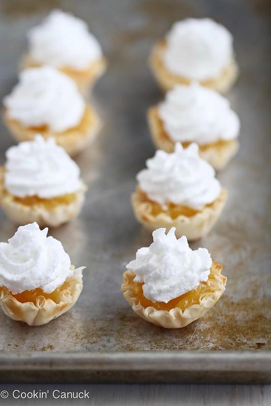 Mini Lemon Meringue Pie Fillo Tartlet Recipe | cookincanuck.com