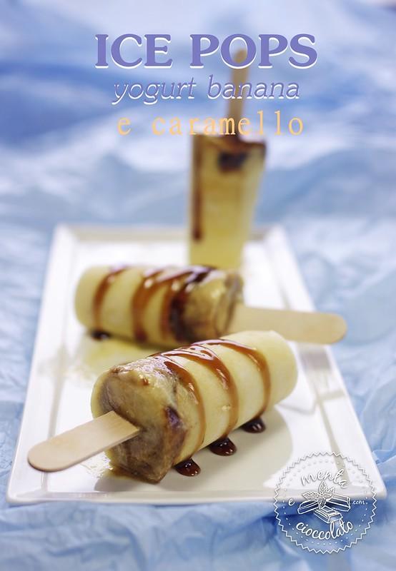 gelati alla banana yogurt e caramello