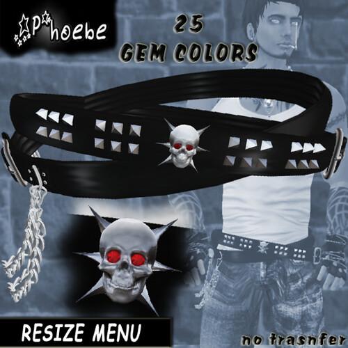 *P* Skull Belt ~Unisex~