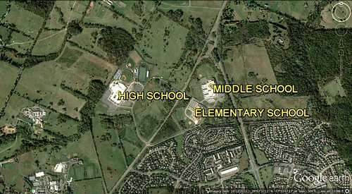 school sprawl in Loudoun County (via Google Earth)