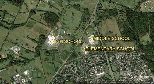 school sprawl in Loudoun County (via Google Earth)