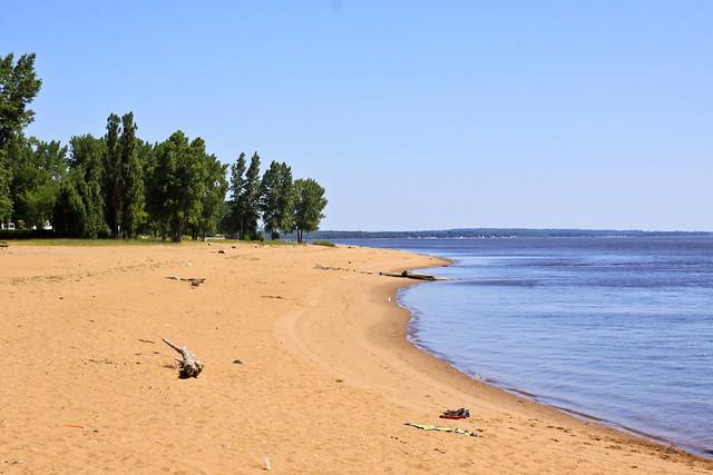 La plage à Batiscan