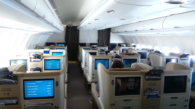 Airbus A330 Singapore Airlines business class cabin