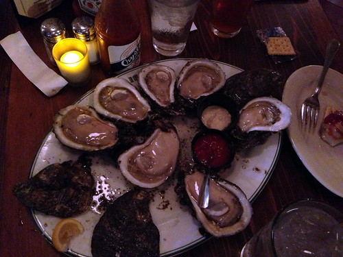 oysters at Grand Isle oyster bar
