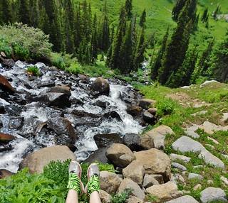 Foot Dangle Over Waterfall