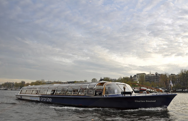 Cruising Amsterdam's Canals - a typical boat