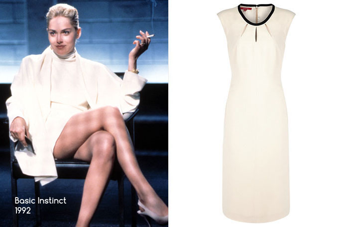 Basic Instinct - Jacques Vert Powder Puff Shift Dress, Cream