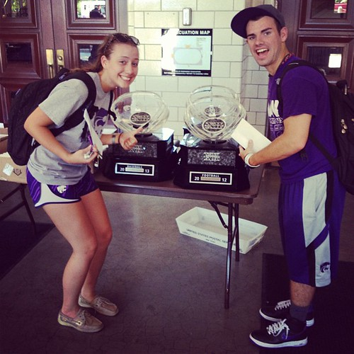 We found the Big 12 Trophies!