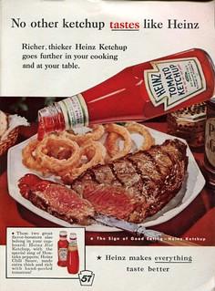 1960 Heinz Ketchup Advertising Readers Digest June 1960