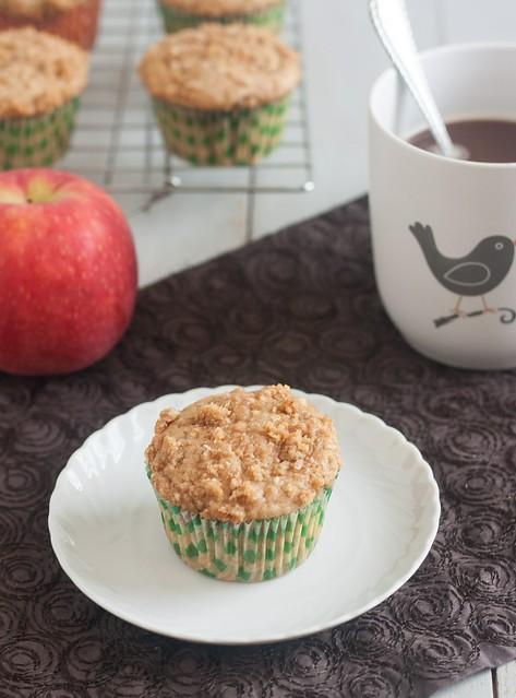 Caramel-Apple Streusel Muffins