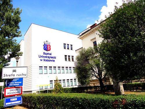 Kraków, Poland (the art of hospital buildings of Krakau) - Szpital Uniwersytecki w Krakowie (University Hospital in Kraków), Mikołaja Kopernika