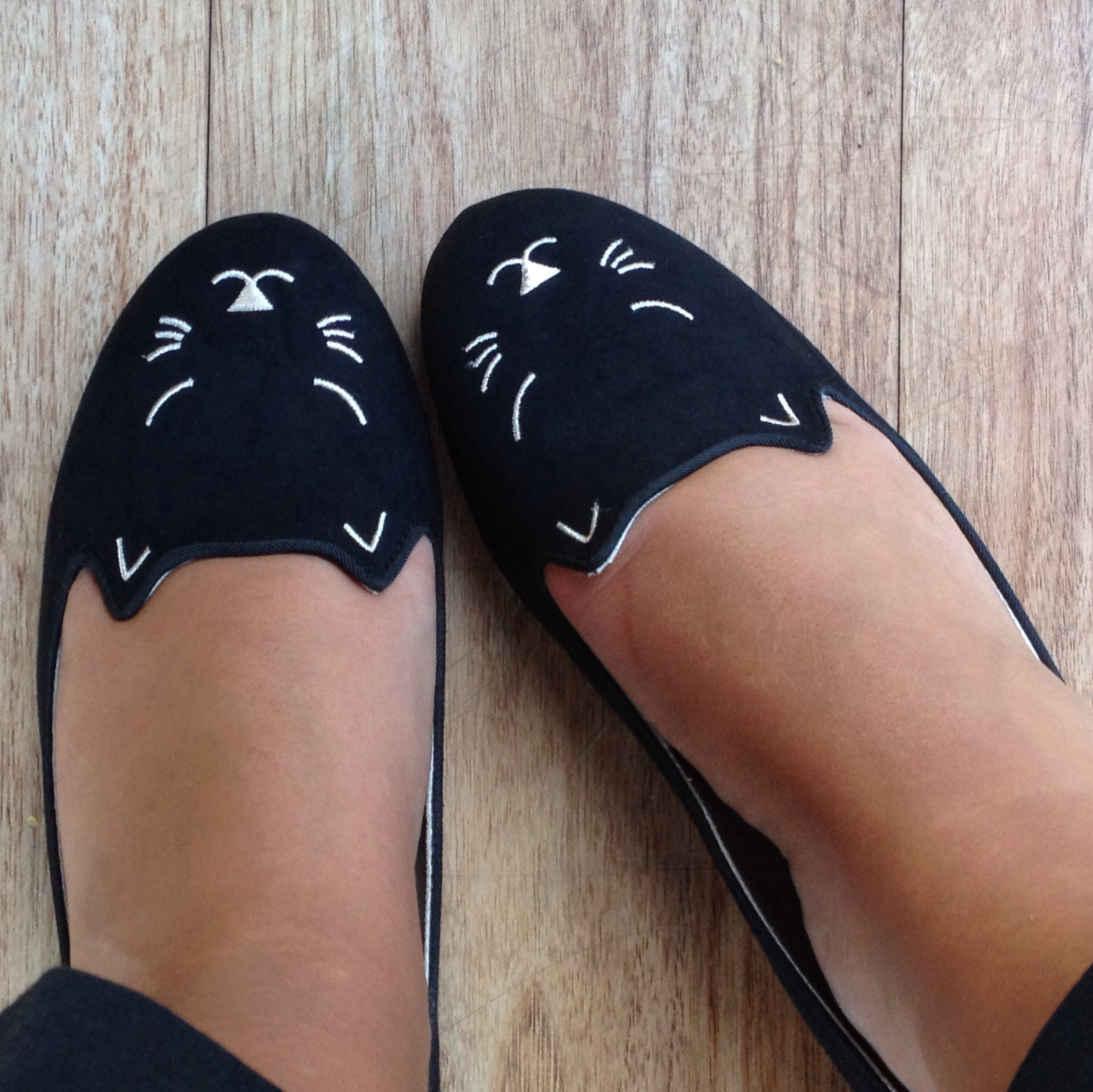 Zara cat shoes Charlotte Olympia style flats