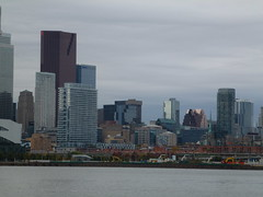 Distant Toronto skyline, viewed from the Port Lands, 2013 10 05 (16)