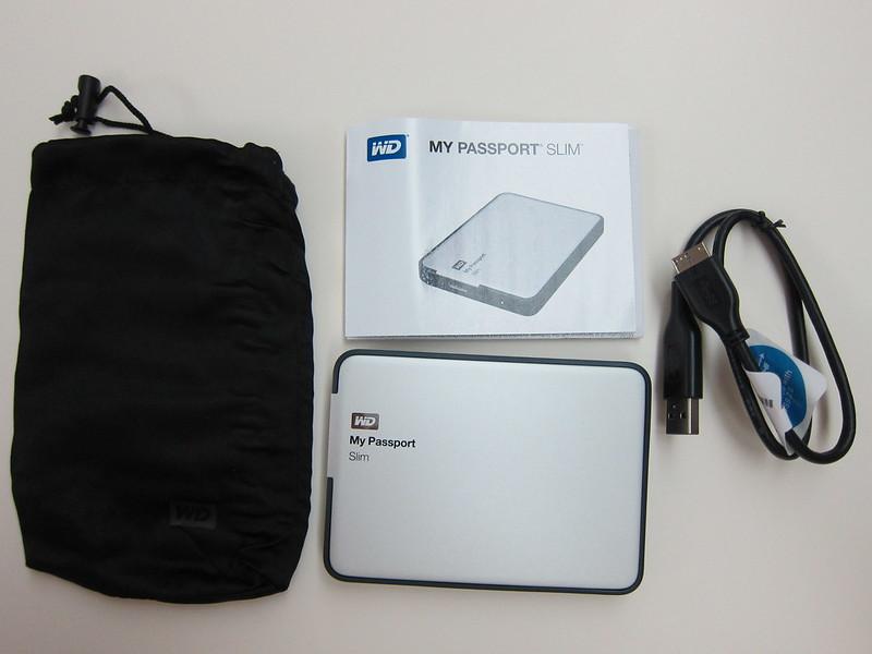 Western Digital My Passport Slim (1TB) - Box Contents