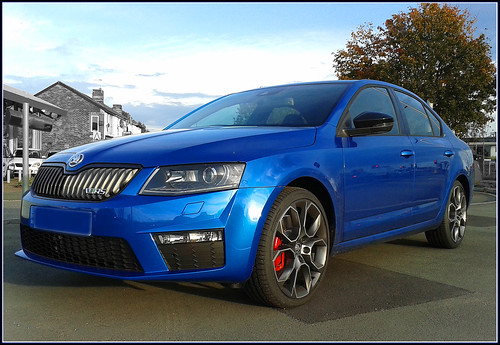 2013 new Skoda Octavia VRS / RS in race blue