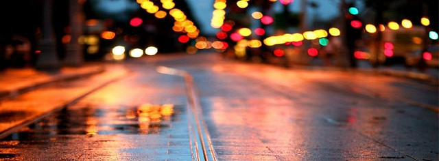 Road After Rain Facebook Cover Photo