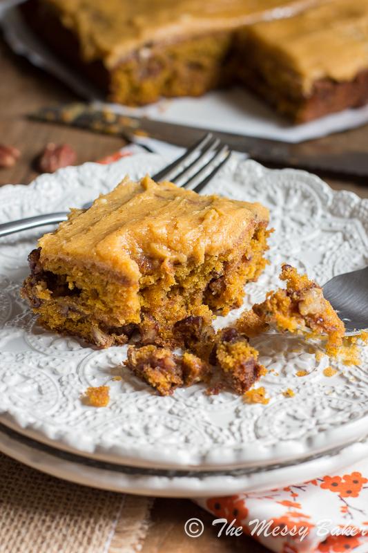 Pumpkin Caramel Pecan cake with Pumpkin Buttercream Frosting-8928