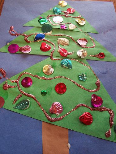 christmas crafts, christmas tree crafts