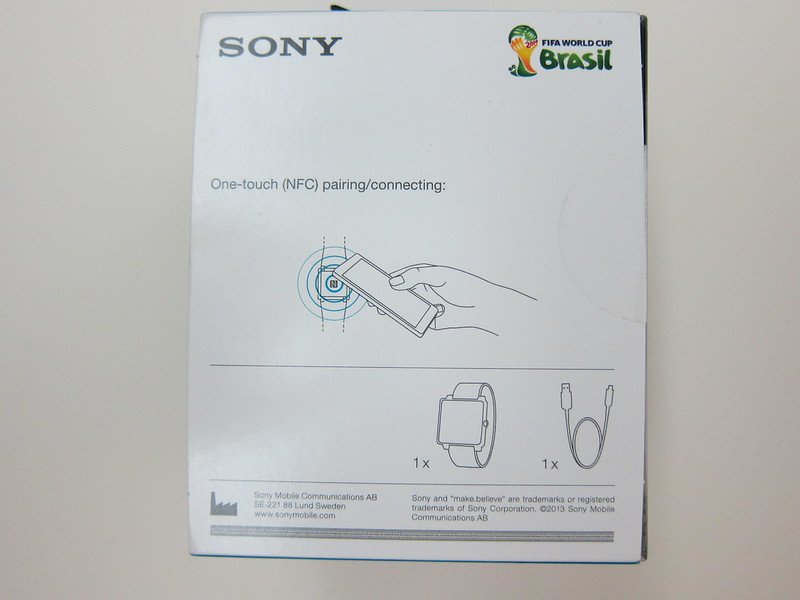 Sony SmartWatch 2 - Box Back