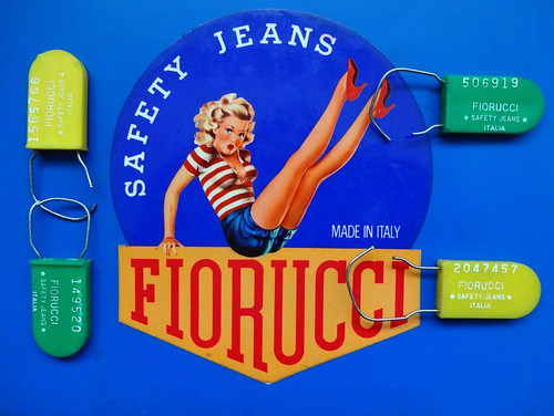 Fiorucci Safety Jeans Sticker & Tags