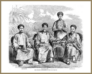 The Annamite Ambassadors in Paris - Antique Print 1863