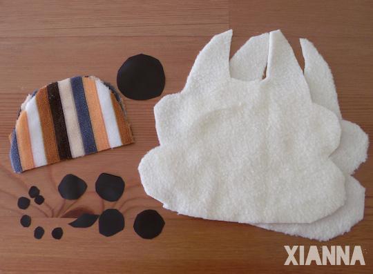DIY kawaii rabbit pieces