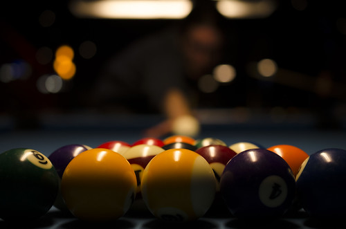 portrait ontario canada man game pool bar lowlight pub nikon break nightout bokeh ottawa posed balls numbers billiards 40mm fridaythe13th poolballs rackemup tailgaters whiteball 2013 betweengames 365project 347365 lininguptheshot nardrait 2013inphotos nardbokeh december132013