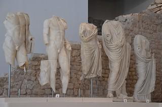 From left to right: Lucius Caesar, Gaius Caesar, Julia, Agrippa and Antonia Minor, Archaeological museum Narona, Vid, Croatia