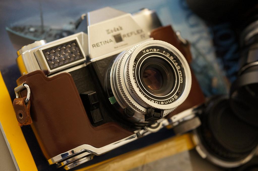 Schneider Kreuznach Xenar 45mm f/2.8 and Kodak Retina Reflex IV