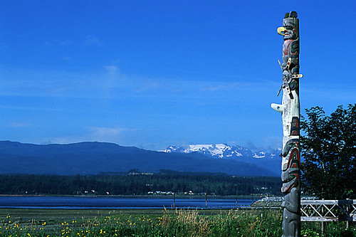 Comox Glacier and Totem Pole, Comox Valley, Vancouver Island, British Columbia