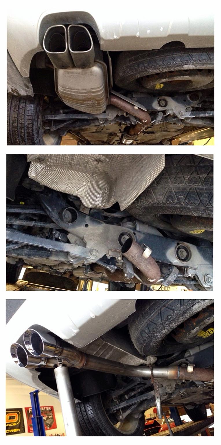 XC90 V8 exhaust - muffler delete