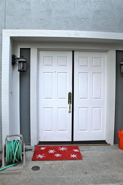 spray paint your doormat