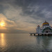 Sunset at Malacca Straits Mosque by David Gn Photography