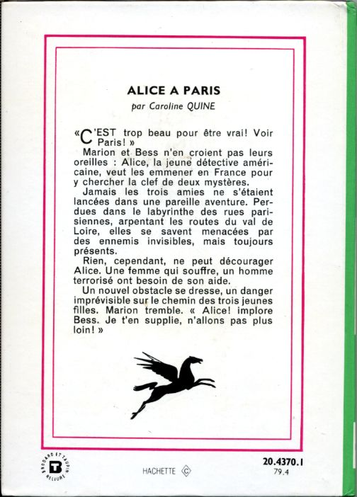 Alice à Paris, by Caroline QUINE