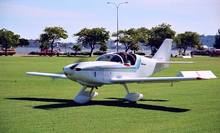 1989 - Stoddard-Hamilton Glasair II FT (VH-HRG) light aircraft at Sports Aircraft Association Australia fly-in at Langley Park between the Swan River and city of Perth, Western Australia