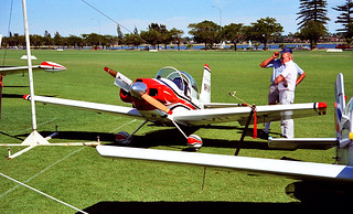 """March 1987 - Corby CJ-1 """"Starlet"""", reg VH-BIP, ultra-light home-built kit plane at the Sports Aircraft Association Australia fly-in at Langley Park, Perth, Western Australia"""