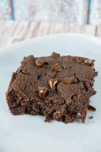 Fudgy Black Bean Peanut Butter Brownies - the best brownies you'll ever taste!  Noone will guess they're made with black beans!