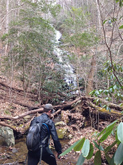 Me at Falls on Feeder of Andrews Creek