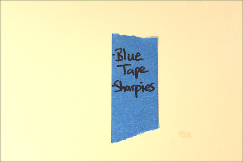 Blue Tape and Sharpies