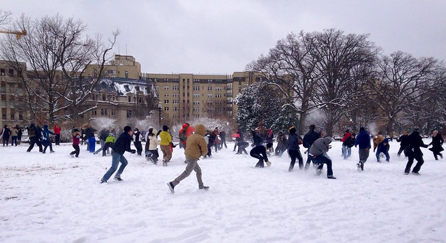 Meridian Hill Snowball Fight