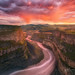 Palouse River Bend Sunset by Chip Phillips