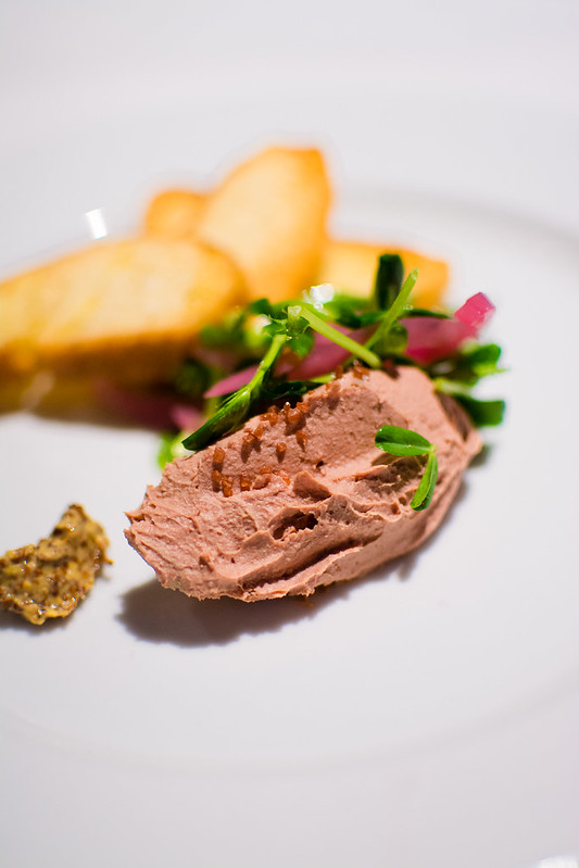 Duck liver mousse at The Crossing