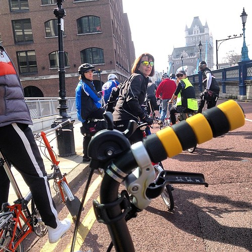LBC Thames Bridges Ride 2014 #urban #brompton #bromptonbicycle #london