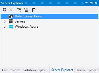 5. server explorer